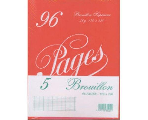 5 cahiers de brouillon