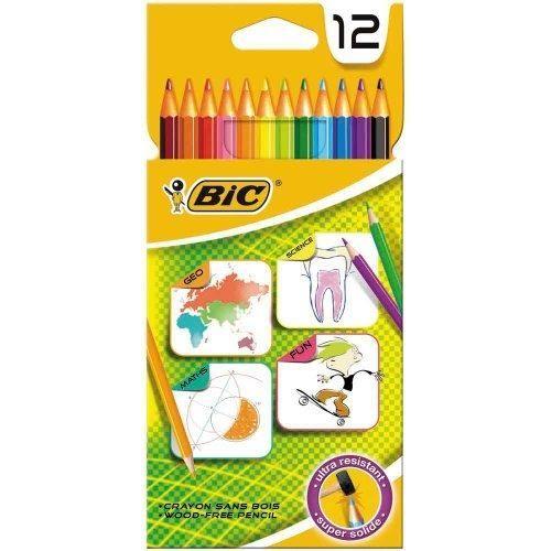 12 crayons de couleur BIC